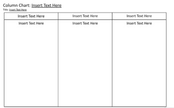 Graphic Organizer: Column Chart (Version 2) DIGITALLY EDITABLE