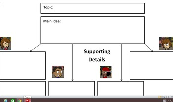 Graphic Organizer Companion to Main Idea  and Supporting Details Video