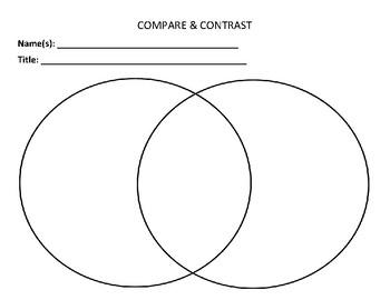 Graphic Organizer: Compare & Contrast