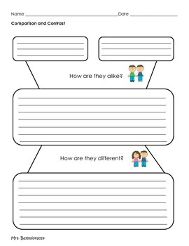 Graphic Organizer Comparison and Contrast