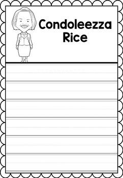 Graphic Organizer : Condoleezza Rice - Inspiring African American Figures