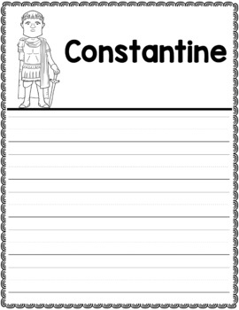 Graphic Organizer : Constantine - Ancient Civilizations Rome