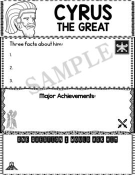 Graphic Organizer : Cyrus the Great - Ancient Civilizations Persia