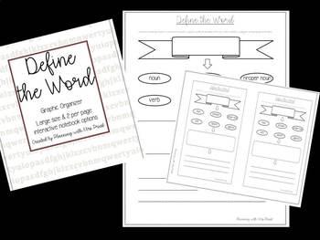 Graphic Organizer - Define the Word