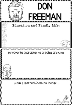 Graphic Organizer : Don Freeman : Awesome Authors