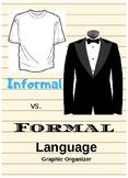 Graphic Organizer: Dress Up Words - Formal v. Informal Language