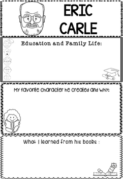 Graphic Organizer : Eric Carle :  Awesome Authors
