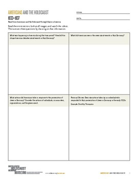 Graphic Organizer: Exploring the Americans and the Holocaust Online Exhibition