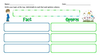 Graphic Organizer: Fact and Opinion Chart
