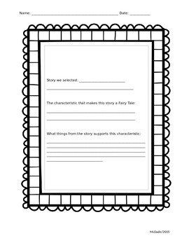 Graphic Organizer - FairyTale