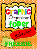 Special Education: Graphic Organizer Folder - Behavior FREE