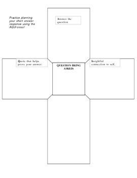 Graphic organizer for short answer responses.