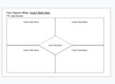 Graphic Organizer: Four-Square Map (DIGITALLY EDITABLE)
