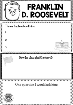 Graphic Organizer : Franklin D. Roosevelt