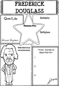 Graphic Organizer : Frederick Douglass, Black History