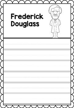 Graphic Organizer : Frederick Douglass - Inspiring African American Figures
