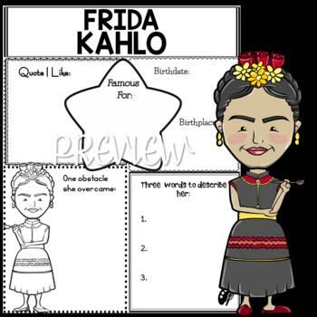 Graphic Organizer : Frida Kahlo