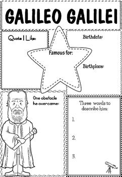 Graphic Organizer : Galileo Galilei