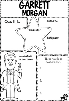 Graphic Organizer Garrett Morgan By Little Lotus Tpt