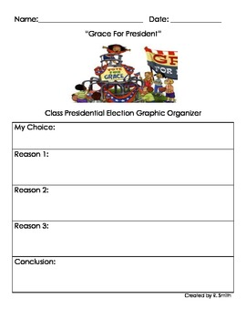 Graphic Organizer: Grace for President