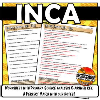 Inca Powerpoint Graphic Organizer Handout
