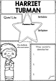 Graphic Organizer : Harriet Tubman