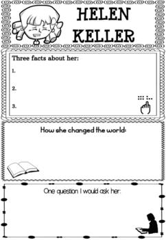 Graphic Organizer : Helen Keller