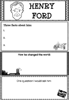 Graphic Organizer : Henry Ford