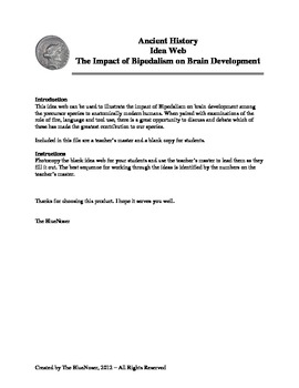 Graphic Organizer - How Bipedalism Led to Brain Development