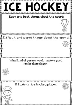 Graphic Organizer: Ice Hockey : Winter Olympics 2018, Winter Sports
