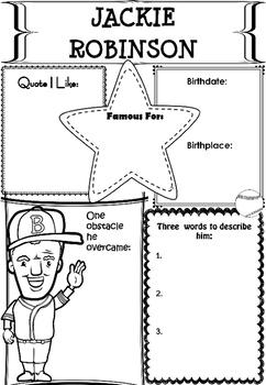 Graphic Organizer : Jackie Robinson