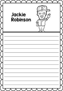 Graphic Organizer : Jackie Robinson, Black History