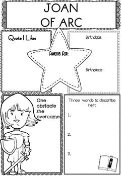 Graphic Organizer : Joan of Arc