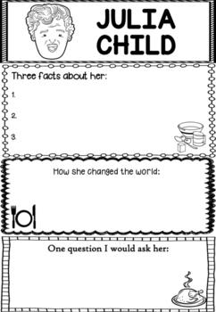 Graphic Organizer : Julia Child