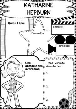 Graphic Organizer : Katharine Hepburn