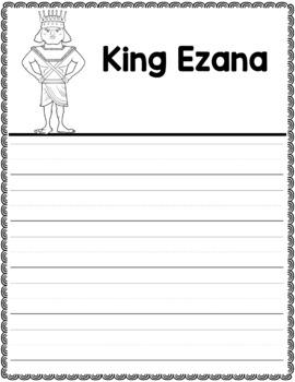 Graphic Organizer : King Ezana  - Ancient Civilizations Africa