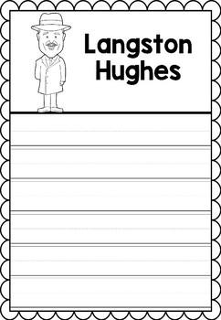 Graphic Organizer : Langston Hughes - Inspiring African American Figures