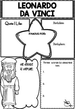 Graphic Organizer : Leonardo da Vinci