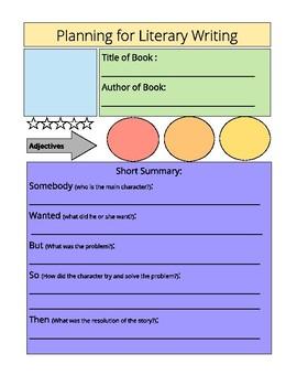 Graphic Organizer - Literary Writing