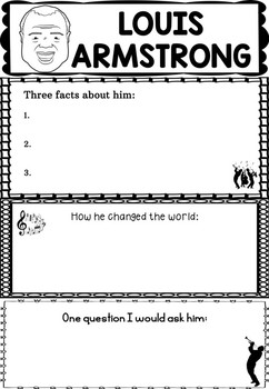 Graphic Organizer : Louis Armstrong - Inspiring African American Figures