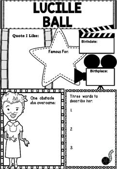 Graphic Organizer : Lucille Ball