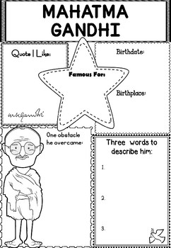 Graphic Organizer : Mahatma Gandhi