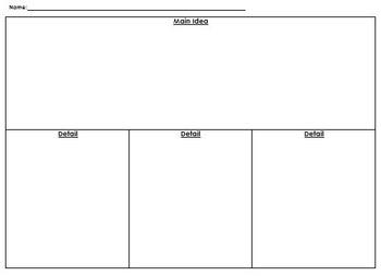 Graphic Organizer - Main Idea and Details