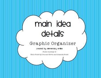 Graphic Organizer- Main Idea and Supporting Details Web