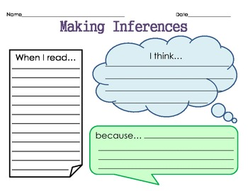 Inference Graphic Organizer - Math Strategies