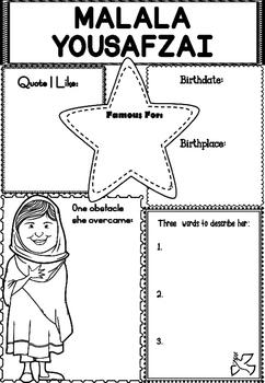 Graphic Organizer : Malala Yousafzai