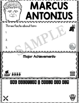 Graphic Organizer : Marcus Antonius - Ancient Civilizations Rome
