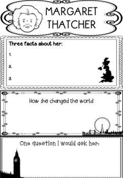 Graphic Organizer : Margaret Thatcher