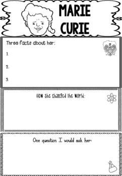 Graphic Organizer : Marie Curie 2