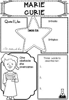 Graphic Organizer : Marie Curie